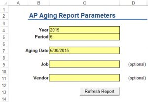 APIA Report Parameters