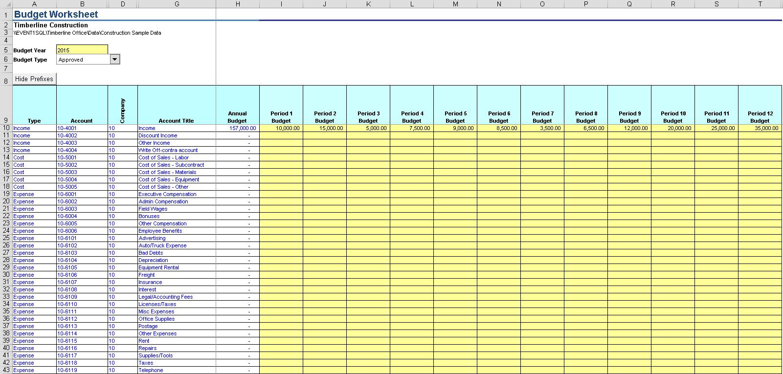 Write Gl Budget Event 1 Software Inc