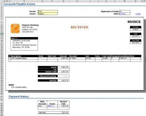 GLAE-AP Invoice